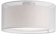 Kuzco 52332W Modern Brushed Nickel 15  Ceiling Lighting Fixture