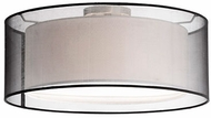 Kuzco 52333B Contemporary Brushed Nickel 20  Ceiling Light Fixture
