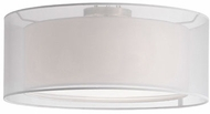 Kuzco 52333W Modern Brushed Nickel 20  Flush Lighting