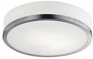 Kuzco 56011BN Contemporary Brushed Nickel Halogen 8  Flush Mount Lighting