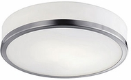 Kuzco 56012BN Contemporary Brushed Nickel Halogen 10.25  Flush Mount Light Fixture