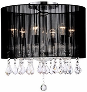 Kuzco 582506B Chrome Flush Ceiling Light Fixture