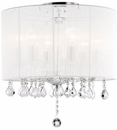 Kuzco 582506W Chrome Flush Mount Ceiling Light Fixture