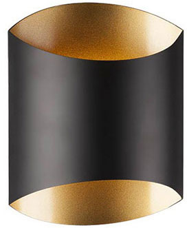 Kuzco 601471BK-LED Modern Black LED Wall Sconce Light - KUZ-601471BK-LED