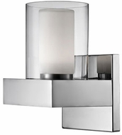 Kuzco 640001CH-LED Modern Chrome LED Wall Light Sconce