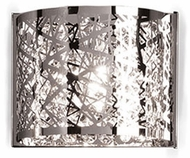 Kuzco 70101 Contemporary Chrome Halogen Lamp Sconce