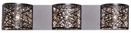 Kuzco 70103BZ Contemporary Bronze Halogen 3-Light Bath Sconce