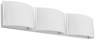 Kuzco 701063CH-LED Contemporary Chrome LED 3-Light Bathroom Vanity Light Fixture