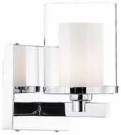 Kuzco 701201 Modern Chrome Halogen Wall Mounted Lamp