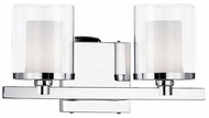 Kuzco 701202 Contemporary Chrome Halogen 2-Light Vanity Lighting Fixture