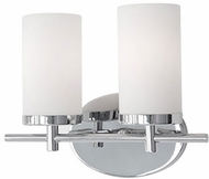 Kuzco 70272CH Contemporary Chrome 2-Light Vanity Light