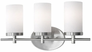 Kuzco 70273BN Modern Brushed Nickel 3-Light Bath Light Fixture