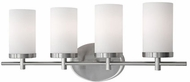 Kuzco 70274BN Modern Brushed Nickel 4-Light Bathroom Light Fixture