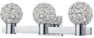 Kuzco 770003CH-LED Chrome LED 3-Light Bathroom Sconce