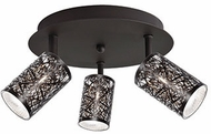 Kuzco 806113BZ Modern Bronze Halogen Overhead Lighting Fixture