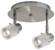 Kuzco 81352BN Modern Brushed Nickel Halogen 2-Light Ceiling Light