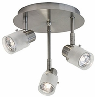 Kuzco 81353BN Contemporary Brushed Nickel Halogen 3-Light Ceiling Light Fixture