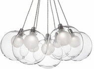 Kuzco CH3117 Bolla Contemporary Chrome LED Mini Hanging Chandelier