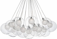 Kuzco CH3128 Bolla Modern Chrome LED Chandelier Light