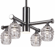 Kuzco CH52118-CH Honeycomb Contemporary Chrome LED Mini Lighting Chandelier