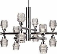 Kuzco CH52127-CH Honeycomb Modern Chrome LED Chandelier Lamp