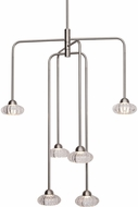 Kuzco CH56524-BN Lantern Contemporary Brushed Nickel LED Mini Chandelier Lamp