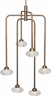 Kuzco CH56524-VB Lantern Contemporary Vintage Brass LED Mini Ceiling Chandelier