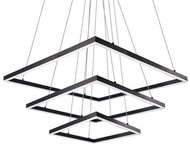 Kuzco CH62243-BK Piazza Contemporary Black LED Chandelier Light