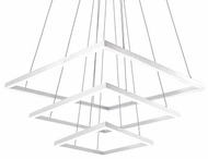 Kuzco CH62243-WH Piazza Modern White LED Ceiling Chandelier
