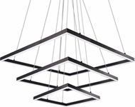 Kuzco CH62255-BK Piazza Contemporary Black LED Hanging Chandelier