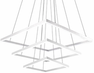 Kuzco CH62255-WH Piazza Modern White LED Chandelier Light
