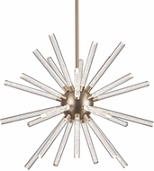 Kuzco CH71832-AB Astro Modern Aged Brass LED 32  Hanging Chandelier