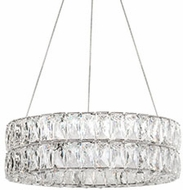Kuzco CH78220 Solaris Chrome LED 20  Drum Drop Lighting