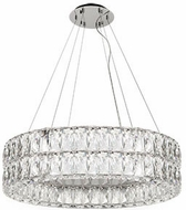 Kuzco CH78232 Solaris Chrome LED 32  Drum Drop Ceiling Lighting