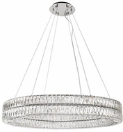 Kuzco CH78259 Solaris Chrome LED 59  Drum Ceiling Pendant Light