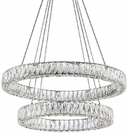 Kuzco CH7832 Solaris Chrome LED Ceiling Chandelier