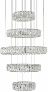 Kuzco CH7840 Solaris Chrome LED Hanging Chandelier