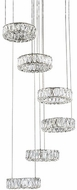 Kuzco CH7872 Solaris Chrome LED Chandelier Light