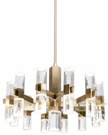 Kuzco CH9432-VB Holm Modern Vintage Brass LED Chandelier Lamp