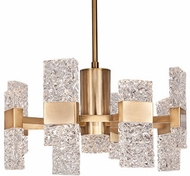 Kuzco CH9522-GB Oslo Contemporary Brushed Gold LED Mini Chandelier Light
