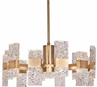 Kuzco CH9528-GB Oslo Contemporary Brushed Gold LED Hanging Chandelier