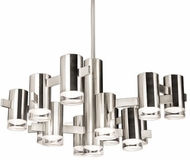 Kuzco CH9730-PN Sienna Contemporary Polished Nickel LED Ceiling Chandelier