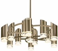 Kuzco CH9830-VB Berlin Modern Vintage Brass LED Chandelier Lighting