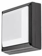 Kuzco EW1408-BK Contemporary Black LED Outdoor 8.5  Wall Mounted Lamp