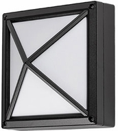 Kuzco EW1511-BK Contemporary Black LED Outdoor 10.625  Sconce Lighting