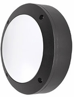 Kuzco EW1706-BK Contemporary Black LED Outdoor 5.875  Wall Light Sconce