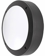 Kuzco EW1709-BK Contemporary Black LED Outdoor 8.75  Wall Light Sconce