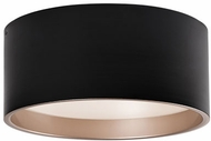 Kuzco FM11418-BK Modern Black LED 17.75  Flush Ceiling Light Fixture