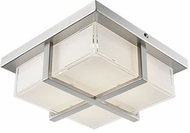 Kuzco FM2410-BN Brushed Nickel LED 9.875  Flush Mount Light Fixture