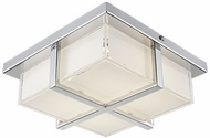 Kuzco FM2410-CH Chrome LED 9.875  Flush Mount Lighting Fixture